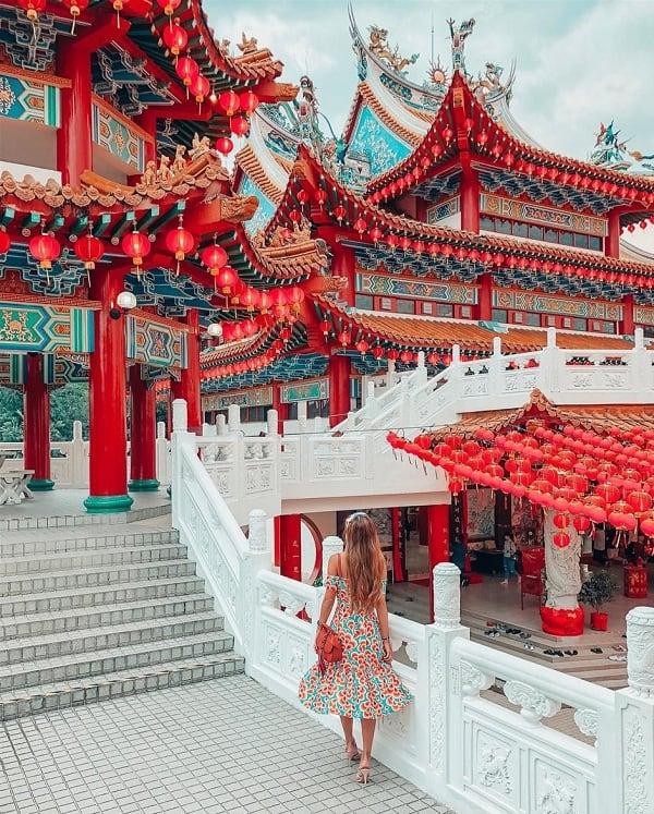 Địa điểm chụp hình đẹp nhất Kuala Lumpur, chùa thiên Hậu Thean Hou Temple