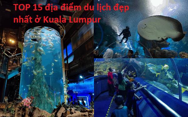 Địa điểm du lịch nổi tiếng ở Kuala Lumpur. Nên đi đâu chơi ở Kuala Lumpur? Thủy cung Aquaria KLCC