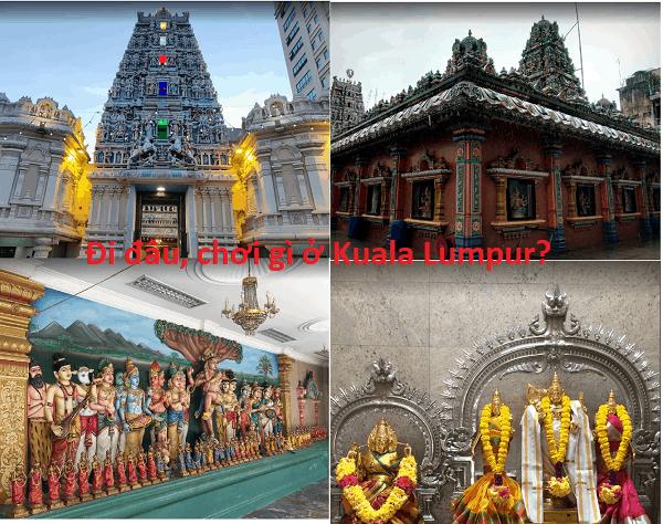 Địa điểm tham quan hấp dẫn ở Kuala Lumpur. Đi đâu, chơi gì ở Kuala Lumpur? Đền Sri Maha Mariamman Temple