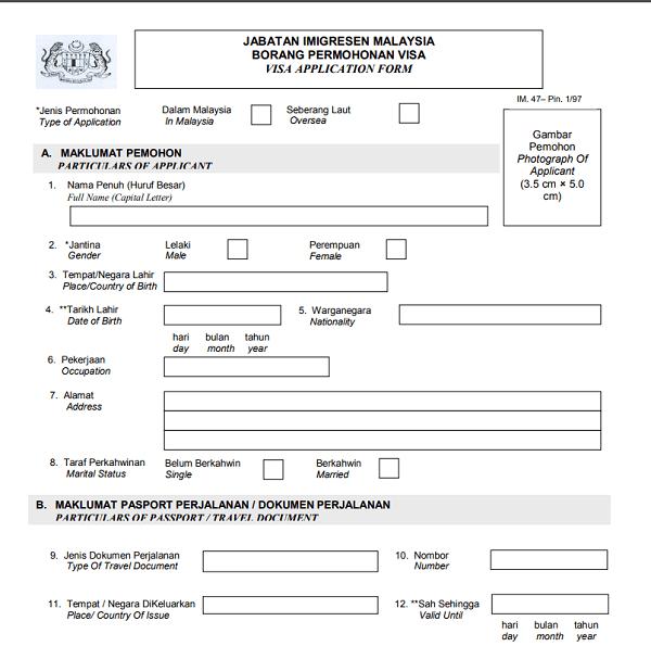 Hướng dẫn làm hồ sơ xin visa Malaysia du học, du lịch, lao động, thăm thân. Thủ tục xin visa Malaysia chi tiết