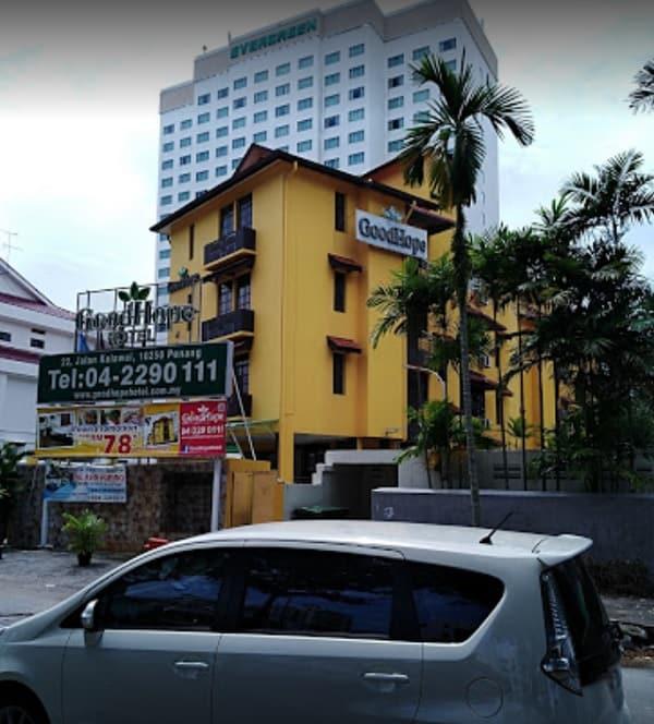 Khách sạn ở Penang Malaysia. Nhà nghỉ bình dân ở Penang. GoodHope Hotel Kelawei Penang
