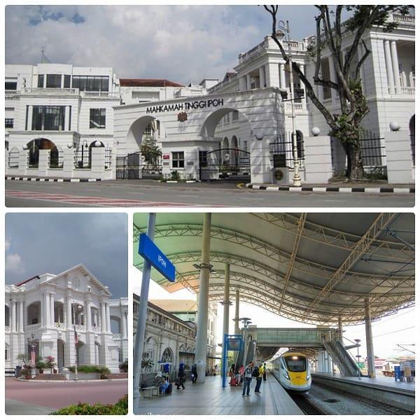 Kinh nghiệm du lịch Ipoh nên tham quan ở đâu: Tam giác vàng Ipoh bao gồm: Tòa thị chính - Tòa án - Ga xe lửa là những địa điểm tham quan nổi tiếng ở Ipoh