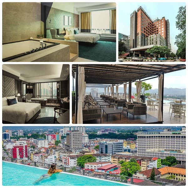 Kinh nghiệm du lịch Ipoh nên ở đâu: Khách sạn WEIL Hotel - khách sạn 5 sao ở Ipoh nằm ở trung tâm thành phố