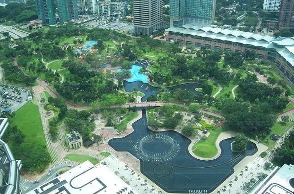 Kinh nghiệm du lịch Kuala Lumpur, công viên KLCC là địa điểm tham quan miễn phí ở Kuala Lumpur