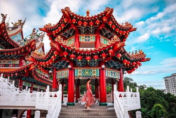 Kinh nghiệm du lịch Kuala Lunpur, chùa thiên Hậu là địa điểm chụp ảnh đẹp