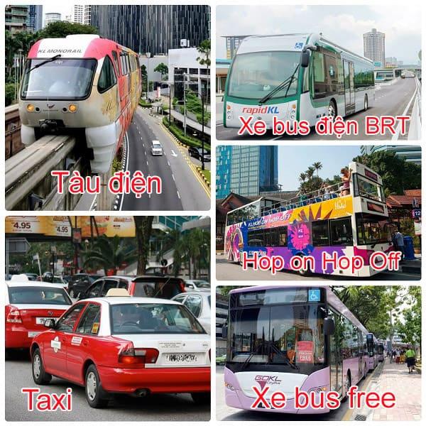 Kinh nghiệm du lịch Kuala Lumpur, các phương tiện đi lại ở Kuala Lumpur