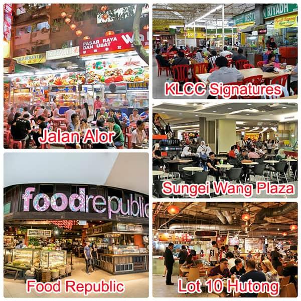 Kinh nghiệm du lịch Kuala Lumpur, ăn uống tại các khu ẩm thực ngon, giá rẻ