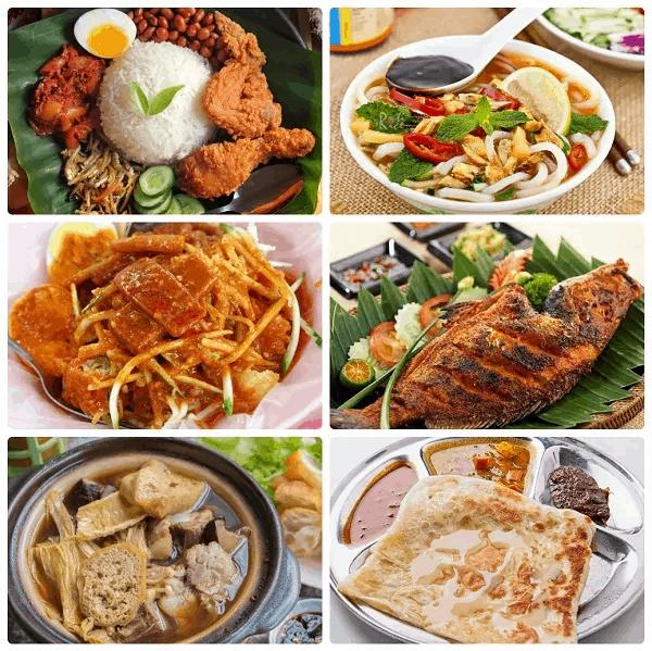 Kinh nghiệm du lịch Kuala Lumpur, Các món ăn ngon, đặc sản của Kuala Lumpur