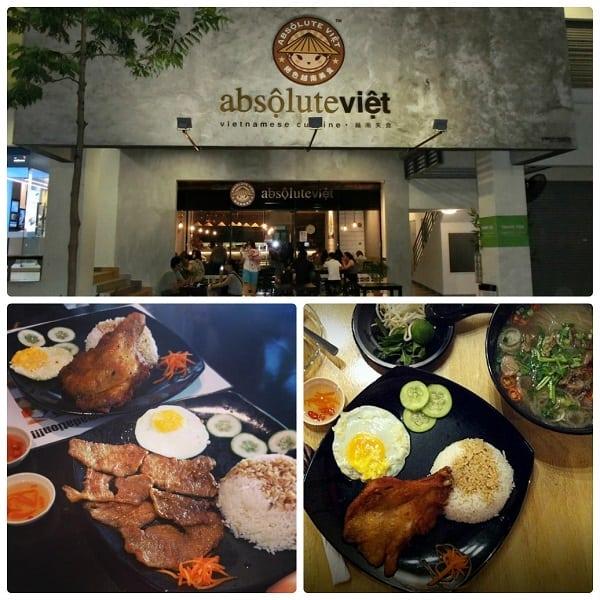 Quán ăn Việt Nam ở Kuala Lumpur, nhà hàng cơm tấm Absộulute Việt