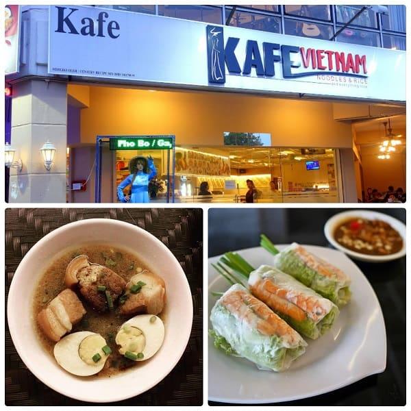 Nhà hàng Việt Nam ở Kuala Lumpur, Kafe Viet Nam với thực đơn rất phong phú