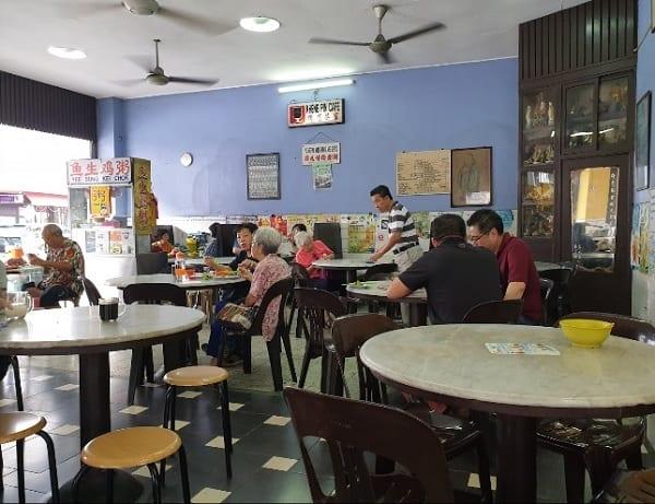Quán ăn ở Penang Malaysia ngon, giá rẻ. Quán Kafe Kheng Pin. Quán ăn bình dân ở Penang