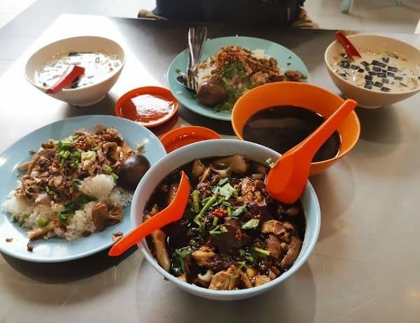 Quán ăn ở Penang Malaysia ngon, giá rẻ. Quán Restoran Kimberly. Quán ăn bình dân ở Penang Malaysia