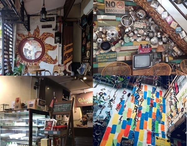 Quán cafe ở Malacca. Quán cà phê đông khách ở Malacca. Calanthe Art Cafe