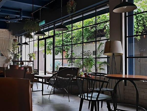 Quán cafe ở Malacca. Quán cafe có view đẹp ở Malacca. Backlane Coffee