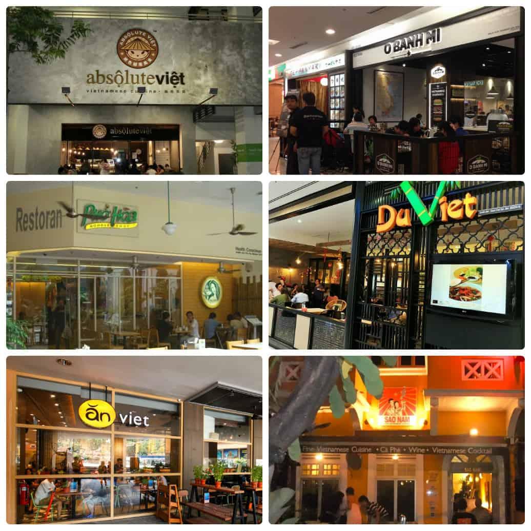 Top nhà hàng, quán ăn Việt Nam ở Kuala Lumpur ngon nhất