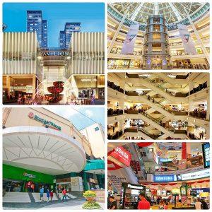 Lịch trình du lịch Kuala Lumpur 3 ngày 2 đêm, các trung tâm thương mại ở Kuala Lumpur