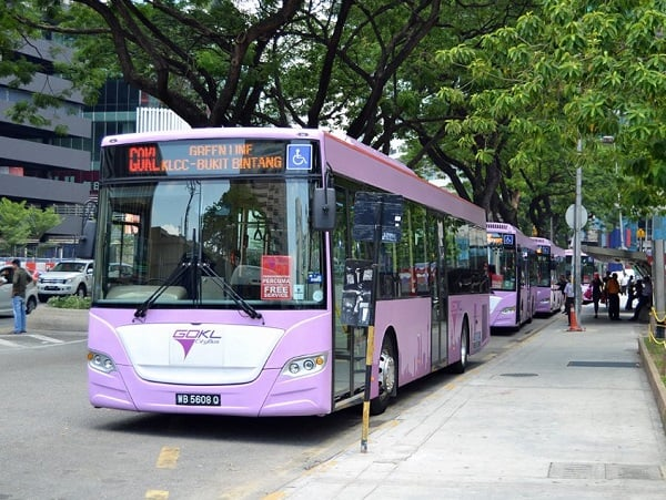Xe bus miễn phí ở Kuala Lumpur Go KL City Bus