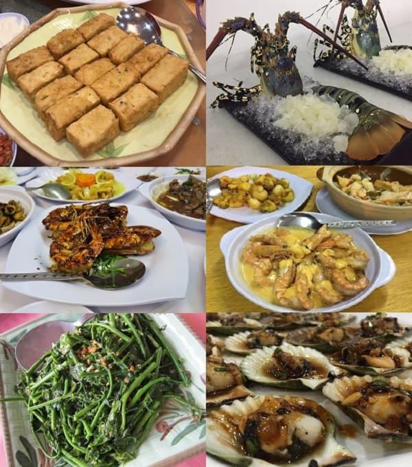Quán ăn ở Sabah Malaysia. Quán ăn giá rẻ ở Sabah Malaysia. Quán Ocean King