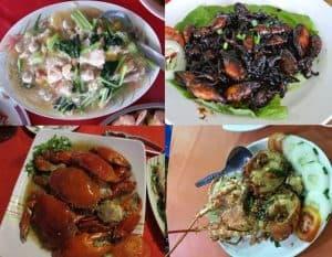 Du lịch Sabah Malaysia nên ăn quán nào ngon? Quán Sim Sim Seafood Restaurant. Quán ăn ỏ Sabah Malaysia