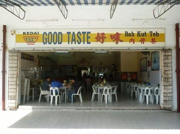 Quán ăn ở Sabah Malaysia. Quán ăn bình dân ở Sabah Malaysia. Quán Good Taste Restaurant