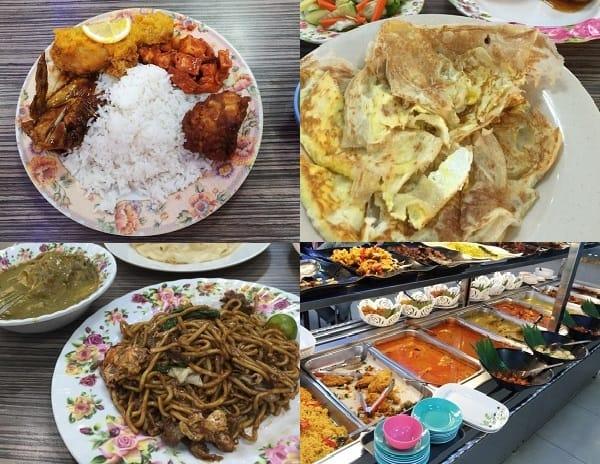 Quán ăn ở Sabah Malaysia. Quán Buhari Curry House