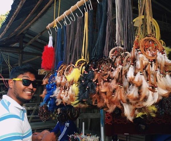 Địa điểm mua sắm ở Kuching Malaysia. Chợ Pasar Serikin. Địa điểm mua sắm giá tốt ở Kuching