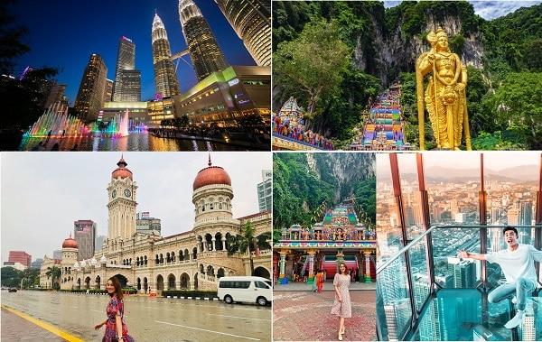 Kinh nghiệm du lịch Malaysia tự túc. Địa điểm tham quan, vui chơi hấp dẫn ở Malaysia. Kuala Lumpur