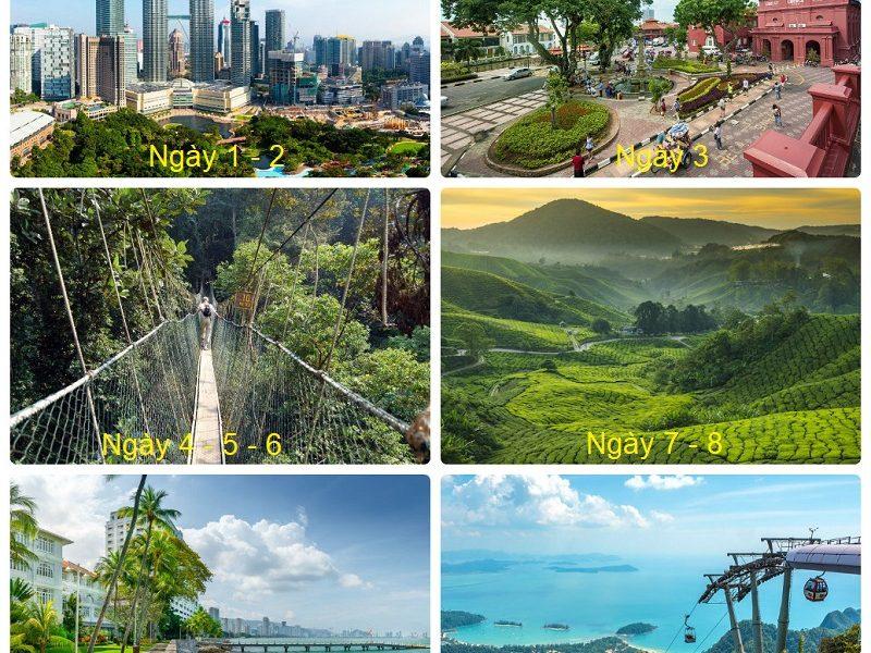 Lịch trình du lịch Malaysia 2 tuần, các địa điểm du lịch Malaysia trong 2 tuần