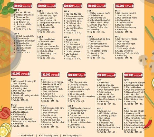 Bảng giá thực đơn nhà hàng ở đảo khỉ: Kinh nghiệm du lịch đảo Khỉ