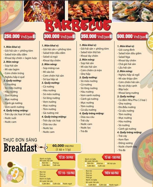 Kinh nghiệm ăn uống khi du lịch đảo khỉ: Bảng giá thực đơn nhà hàng ở đảo khỉ
