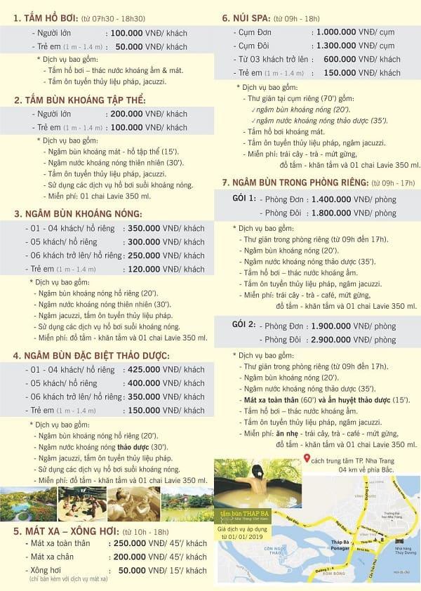 Kinh nghiệm du lịch Tháp Bà Ponagar: Bảng giá dịch vụ tắm bùn ở Tháp Bà Ponagar