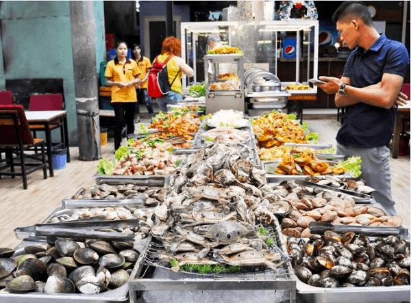 Buffet hải sản nhà hàng Zallo Beach - Địa chỉ ăn buffet hải sản ngon ở Nha Trang