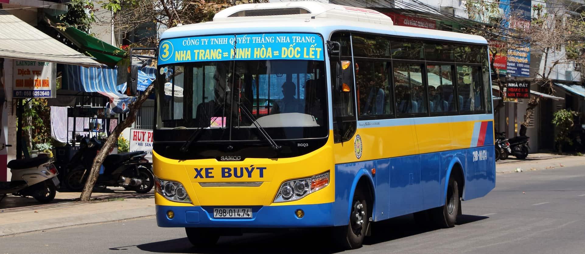 Thông tin các tuyến bus Nha Trang 2019 kèm lộ trình, giá vé. Lộ trình các tuyến bus ở Nha Trang. Du lịch Nha Trang bằng xe bus