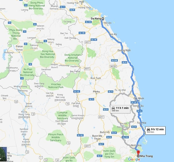 Du lịch Nha Trang từ Đà Nẵng bằng phương tiện gì? Hướng dẫn cách di chuyển từ Đà Nẵng đến Nha Trang