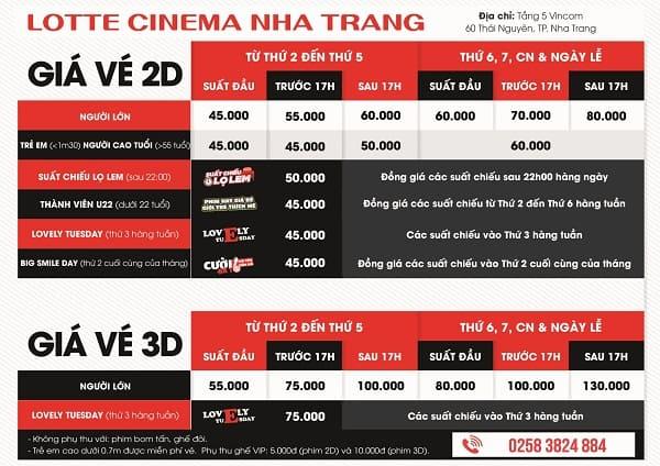 Rạp chiếu phim Lotte Cinema Nha Trang/ địa điểm rạp chiếu phim ở Nha Trang