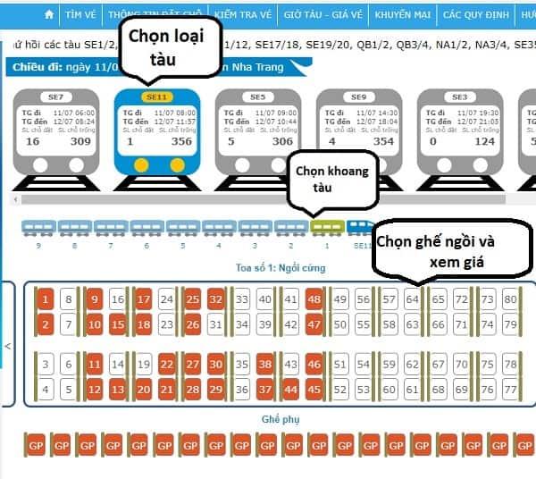 Hướng dẫn cách mua vé tàu đi Nha Trang online: Kinh nghiệm mua vé tàu đi Nha Trang