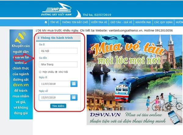 Kinh nghiệm mua vé tàu đi Nha Trang: Mua vé tàu đi Nha Trang như thế nào?