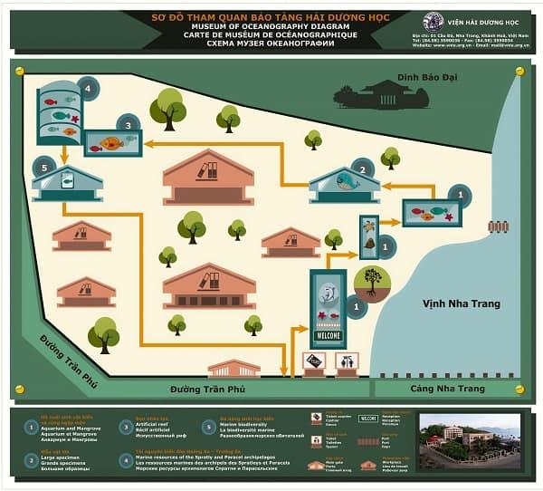 Thông tin chung về viện Hải Dương Học Nha Trang: Địa chỉ, giờ mở cửa...