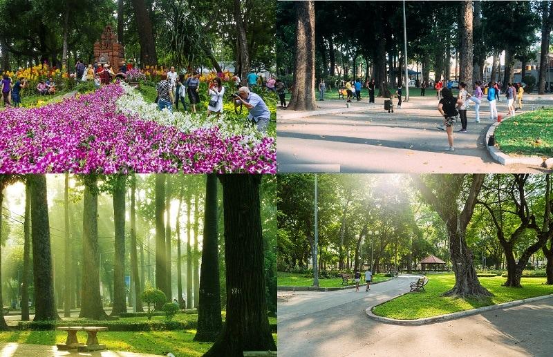Địa điểm du lịch đẹp ở Sài Gòn. Công viên Tao Đàn