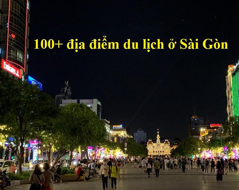 Địa điểm du lịch hấp dẫn ở Sài Gòn về đêm. Phố đi bộ Nguyễn Huệ
