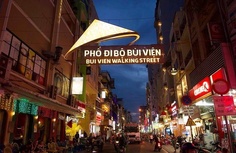 Địa điểm du lịch nổi tiếng ở Sài Gòn. Phố đi bộ Bùi Viện