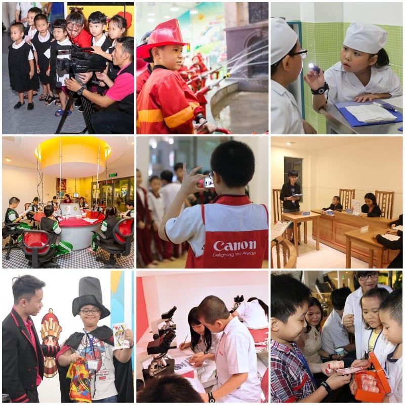 Địa điểm du lịch, vui chơi cho trẻ em ở Sài Gòn. Khu vui chơi giáo dục hướng nghiệp Vietopia