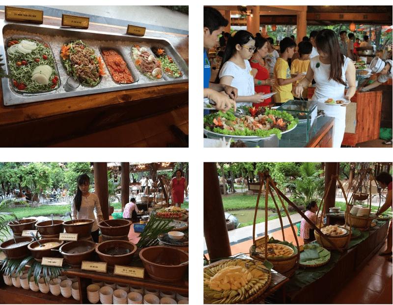 Giá buffet ở khu du lịch Văn Thánh