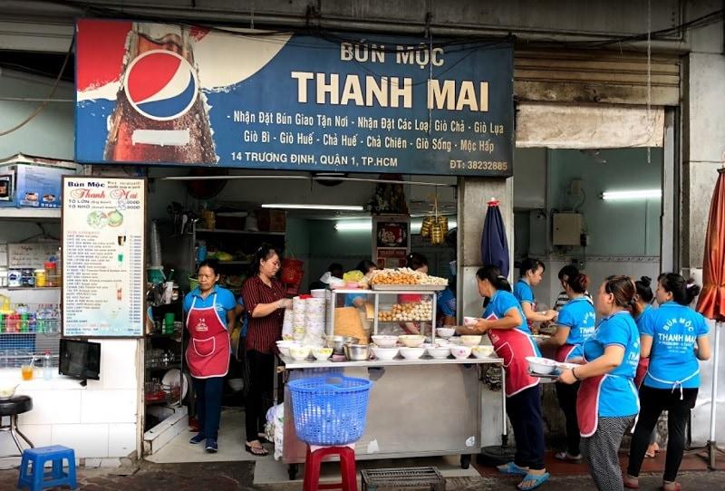 Ẳn gì ở quận 1 Sài Gòn? Quán ăn quận 1. Bún mọc Thanh Mai