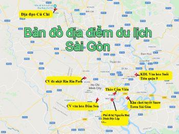 Bản đồ du lịch Sài Gòn TP HCM mới nhất