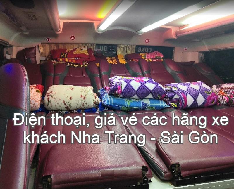 Tổng hợp giá vé, điện thoại các hãng xe khách Nha Trang đi Tphcm tốt nhất