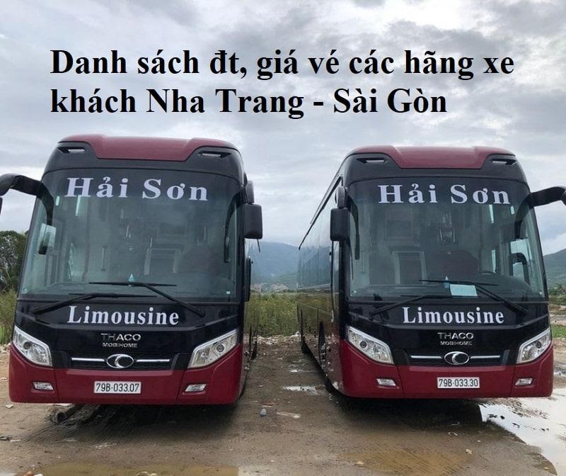 Xe khách Nha Trang đi tphcm giá rẻ, chất lượng. Từ Nha Trang đi Sài Gòn có hãng xe khách nào?