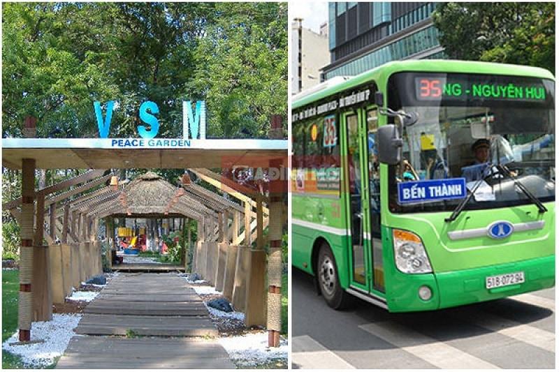 công viên Tao Đàn bạn có thể đi tuyến xe bus nào?