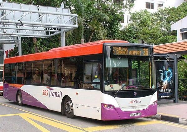 Di chuyển từ sân bay Changi vào Singapore, xe bus là các di chuyển tiết kiệm