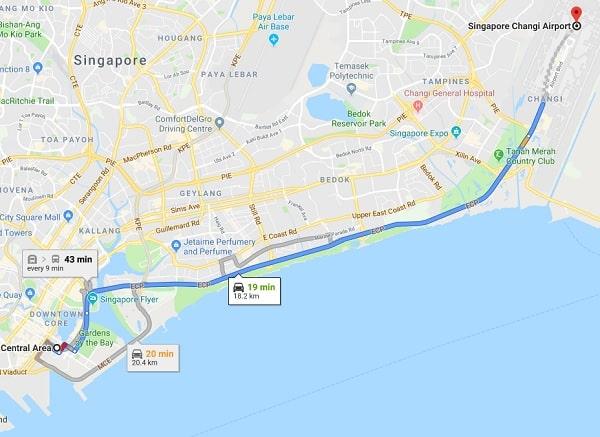 Di chuyển từ sân bay Changi vào Singapore bằng phương tiện nào